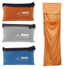 Outdoor 210 * 70cm Ultra-light Portable Single Sleeping Bag Liner Polyester Pongee Healthy for Camping Travel ultra light portable double sleeping bag liner 100% cotton healthy outdoor camping travel 220 160cm 2 color naturehike