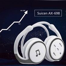 Оригинальное Suicen AX-698 беспроводной Bluetooth наушники с креплением с микрофоном Поддержка карты памяти FM радио наушники с шейным гарнитура