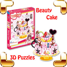 New Arrival Gift LEER Beauty Cake 3D Anime Puzzles Japan Manga Model Girls Easy Assemble DIY Toys Collection Comic Fans Favour