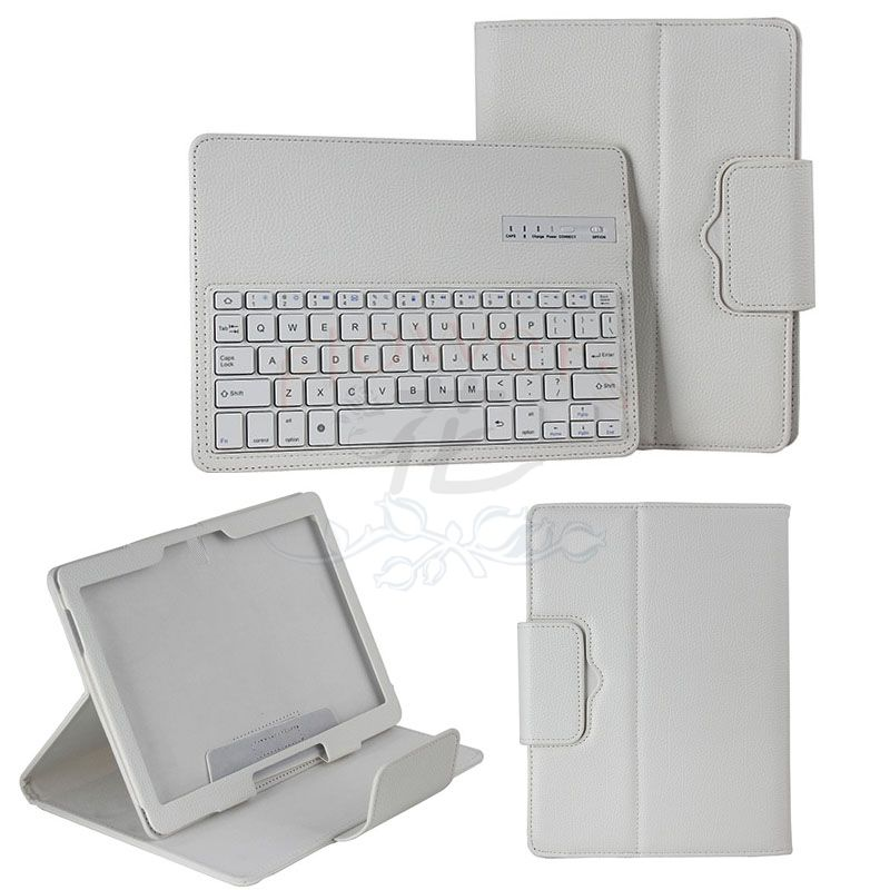 For Samsung Galaxy Note Pro & Tab Pro 12.2 SM-P900 / P905 Bluetooth Keyboard Cover Case (Smart Cover Wake / Sleep) - White samsung galaxy note 5 64gb sm n920c black sapphire