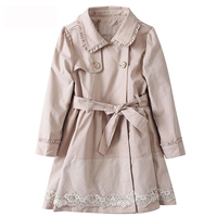 Spring Autumn children trench girls Coat Outwear Children's Jackets Clothes Infants Outerwear Girl Hoody Cardigan Trench Coat