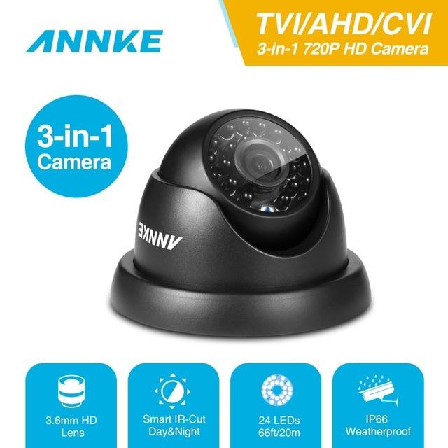 ANNKE 720P TVI AHD CVI 3в1 купольная камера 1280TVL уличная фиксированная камера с защитой от атмосферных воздействий умная ИК камера видеонаблюдения