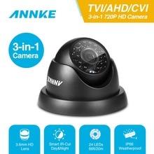 ANNKE 720P TVI AHD CVI 3IN1 Dome kamera 1280TVL açık kapalı sabit kamera hava koşullarına dayanıklı akıllı IR Cut CCTV güvenlik kamera sistemi
