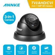 Annke 720 p tvi ahd cvi 3in1 돔 카메라 1280tvl 야외 실내 고정 카메라 비바람에 견디는 스마트 ir 컷 cctv 보안 캠 시스템