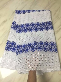 2018 African Swiss Voile Lace In Switzerland 2018 African Dry Cotton Swiss Voile Lace Fabric  P815-24
