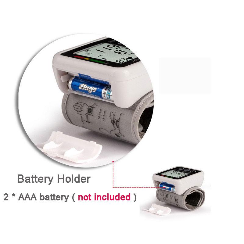 Household Health Care Electronic Measure Blood Pressure Meter Digital Wrist Sphygmomanometer Tonometer Pulse Heart Rate Monitor 16