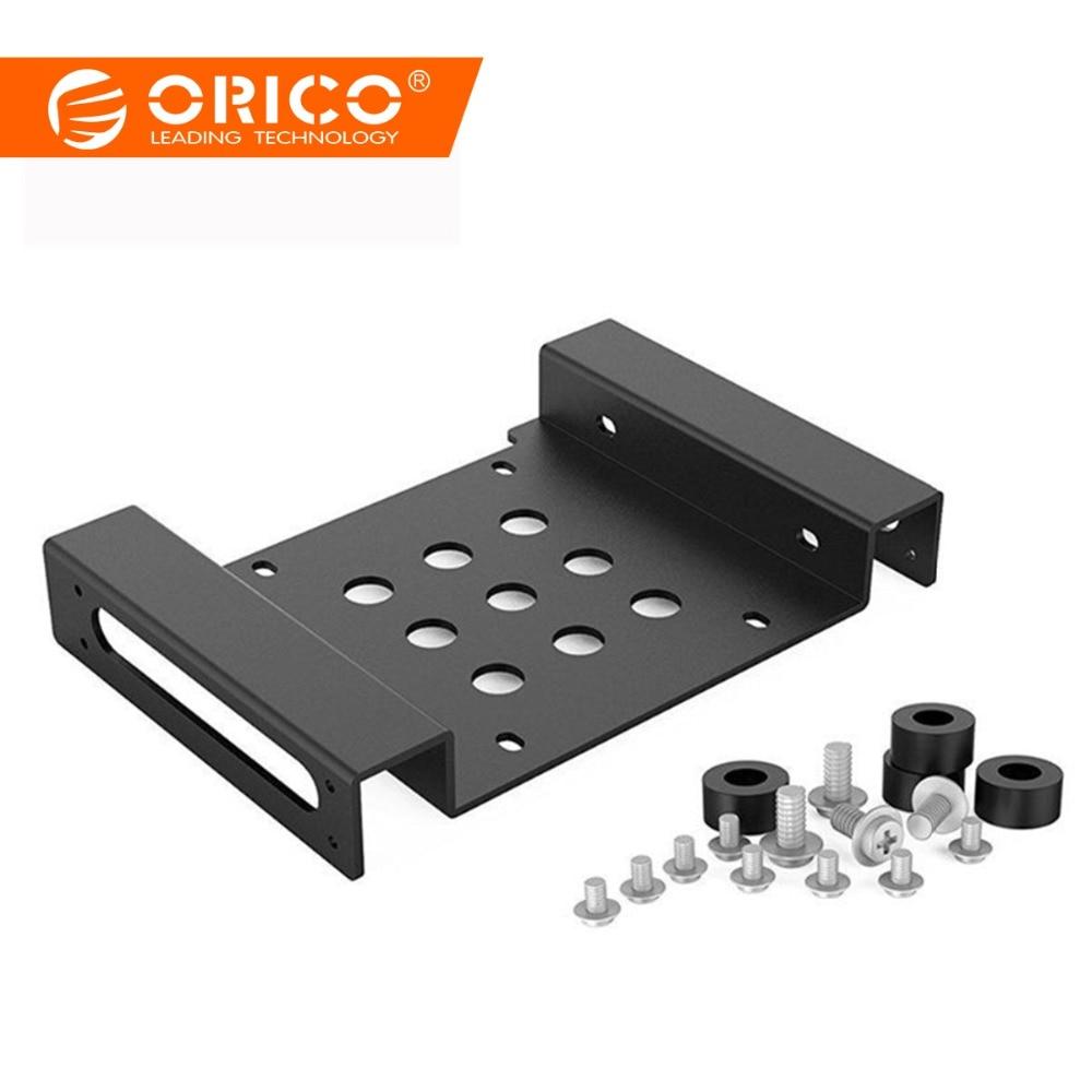 ORICO 알루미늄 5.25 인치 ~ 2.5 또는 3.5 인치 내부 하드 디스크 드라이브 장착 키트 (나사 및 충격 흡수 고무 와셔 포함)
