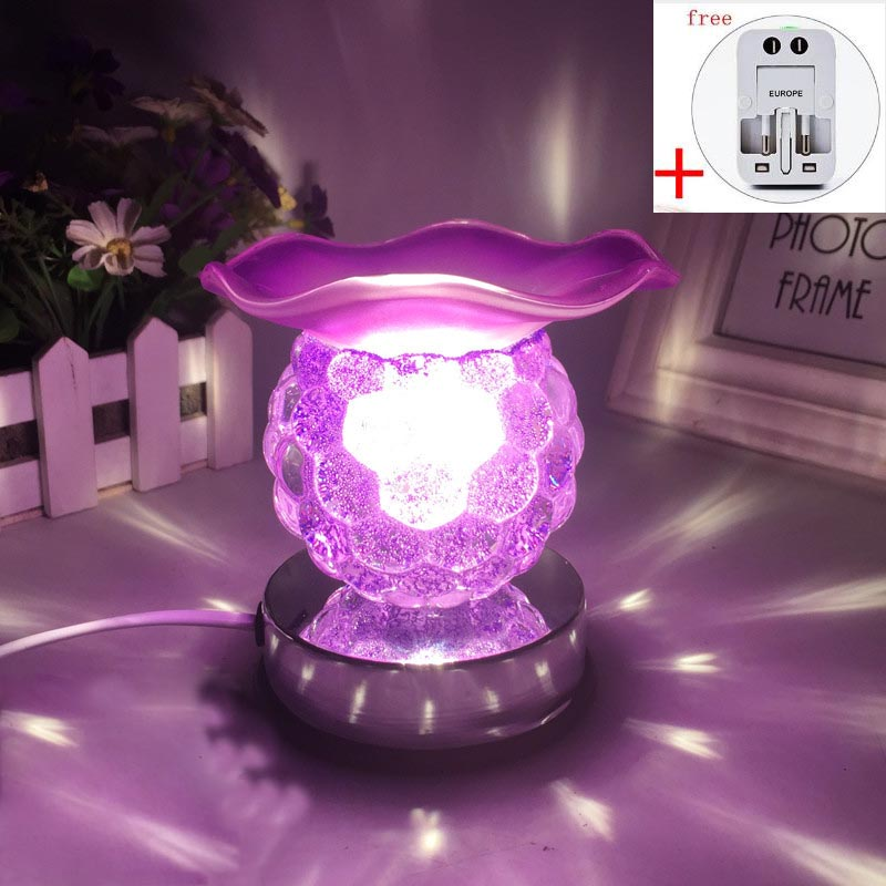 220V Creative Electric Plug Glass Aroma Lamps Office Desktop Modern Decoration Essential Oil Fragrance Burner Night Light Gifts