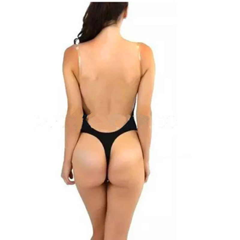Backless Deep Plunging Evening Dress Shaper Y Clear Strap Plunge Body Shapers Women S U Bodysuit In Bodysuits From Clothing