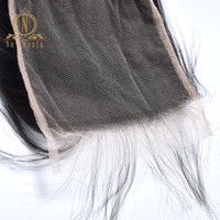 Transparent Lace Closures Straight 5x5 Big Swiss Lace Closure Pre Plucked Baby Brazilian Remy Human Hair Black Natural For Women