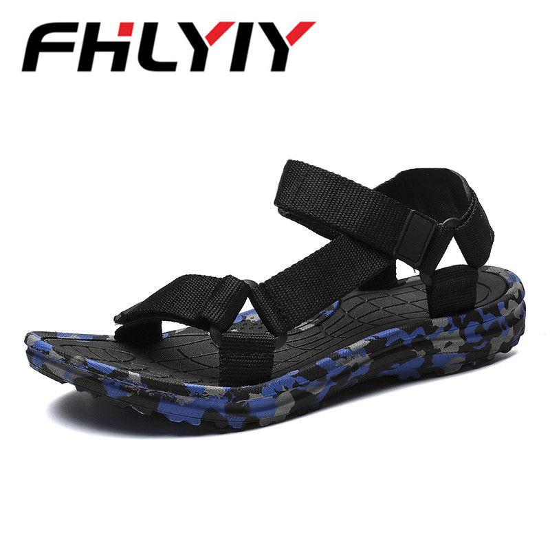 Plus Size 48 Summer Gladiator Men Beach Sandals Outdoor Shoes Roman Men Casual Shoe Flip Flops Camouflage Sandals Zapatos Hombre