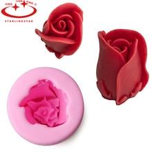 Satrlinkstr 1 STÜCK 3D Rose Form Silikonform Fondantform Schokolade Zucker Molud Kuchen Dekorieren Set Süße Liebe Fondant Werkzeug