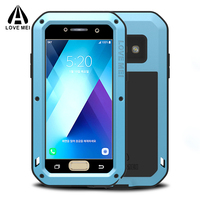 Luxury Metal Armor Case For Samsung Galaxy A5 A3 2017 Phone Shockproof 360 Full Body Protective Cover For Samsung A5 2017 Case