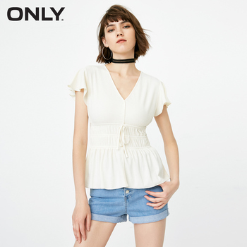 04532b321c Best Price ONLY 2019 Spring and Summer Women's Slim Fit V-neckline Lace-up  Knitted T-shirt  118301530