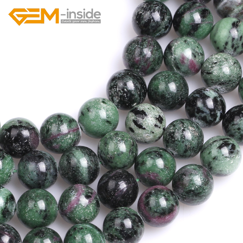 approx 36 Strand 5mm 8mm High Quality Grade A Natural Ruby Zoisite Semi-precious Gemstone Chips Nuggets Beads