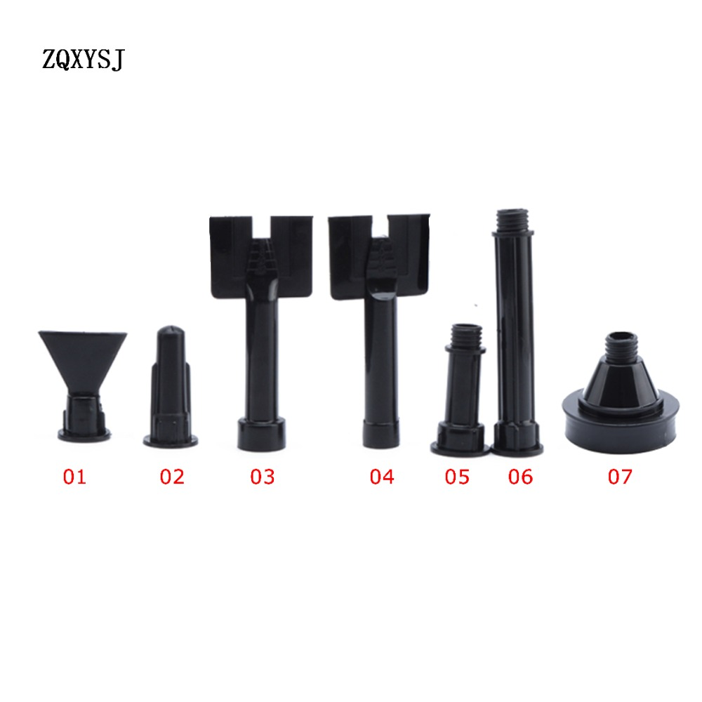 Caulking Nozzle Plastic Epoxy Silicone Tube Nozzle Mastic Soft Rubber Cartridge Spare Nozzles Bent Structure Caulk Static Mixer