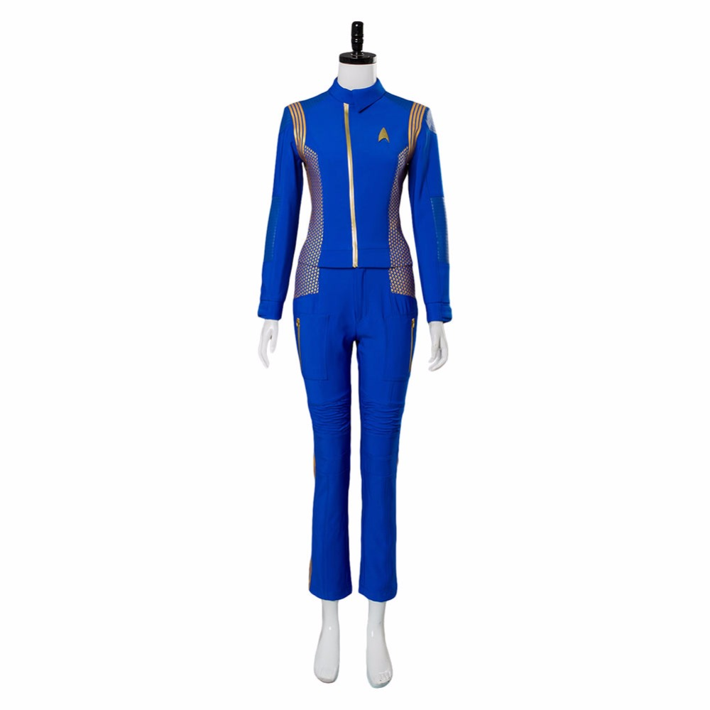 Star Trek Discovery Captain Lorca Uniform Cosplay Costume Blue Mens Command Suit