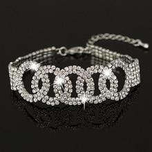 Own factory made Bracelete Pulseiras Austrian Crystal Womens Bracelet