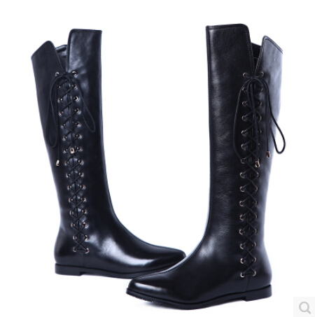 ФОТО All-new shop 2015 newest winter boots women ladies' boots sexy over the knee boots for women genuine leather shoes long boots