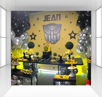 Transformers background for boys photography backdrops baby children birthday party decoration Photo stweet table cloth CZ 171
