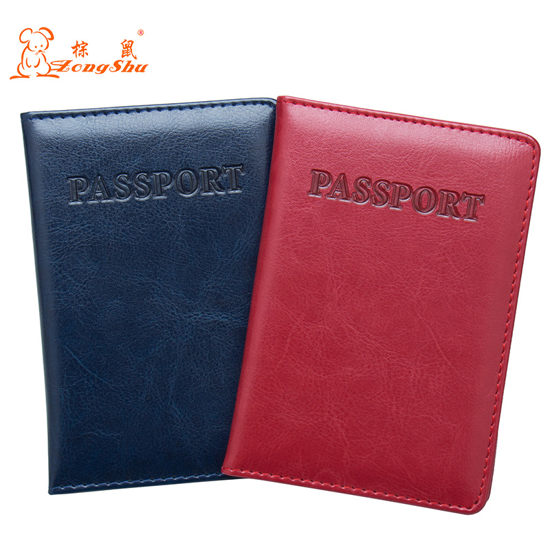 Devoted Red Oil Fashion Double Eagle Convenient Pu Leather Passport Holder Built In Rfid Blocking Protect Personal Information Less Expensive Coin Purses & Holders