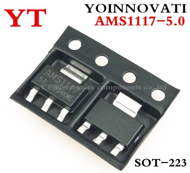 Envío gratis 10 unids/lote AMS1117-5.0 AMS1117-5.0V... AMS1117 1117 5 V 1A SOT223 regulador de tensión de la mejor calidad