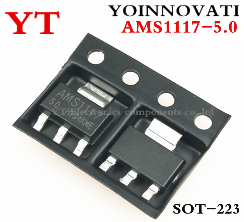 Free Shipping 10pcs/lot AMS1117-5.0 AMS1117-5.0V , AMS1117 1117 5V 1A SOT223 Voltage Regulator Best Quality