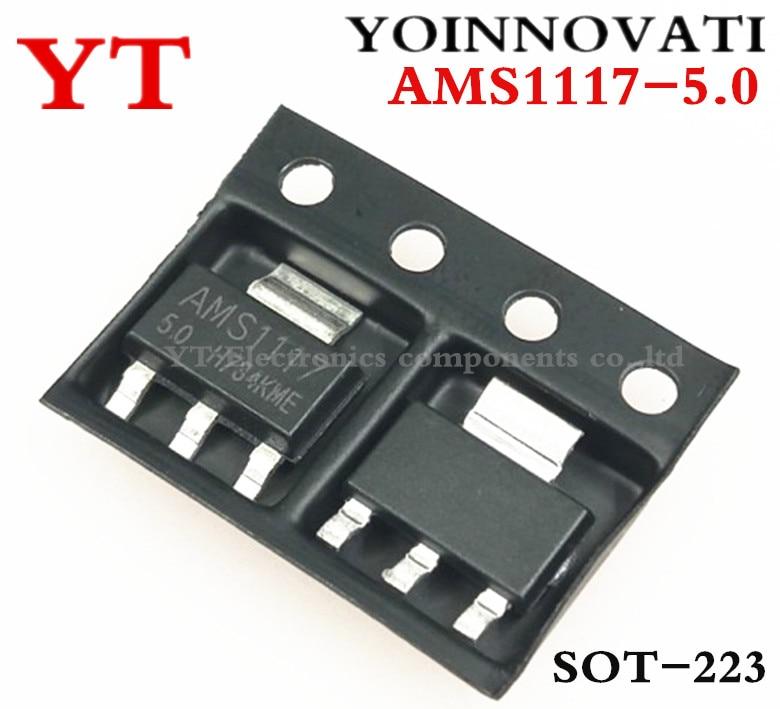 Free Shipping 10pcs/lot AMS1117-5.0 AMS1117-5.0V , AMS1117 1117 5V 1A SOT223 Voltage Regulator Best Quality
