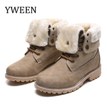 YWEEN Women Boots 2019 Winter Boots New  Women Ankle Boots Women Shoes Warm Fur Plush Shoes Woman Zapatos de mujer Fur Boots high quality women boots winter casual brand warm shoes plush fur fashion boots shoes woman xw 44