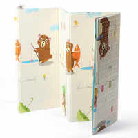 180x200CM Double-sided Folding Puzzle Playmat Cartoon Panda Kid XPE Play Mat Game Pad for Infant Crawling Mat non-slip yoga Mat
