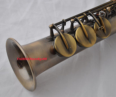 Copy 95% Custom Mark VI Soprano Saxophone Vintage Black Unlacquered Saxophone Instrument ...