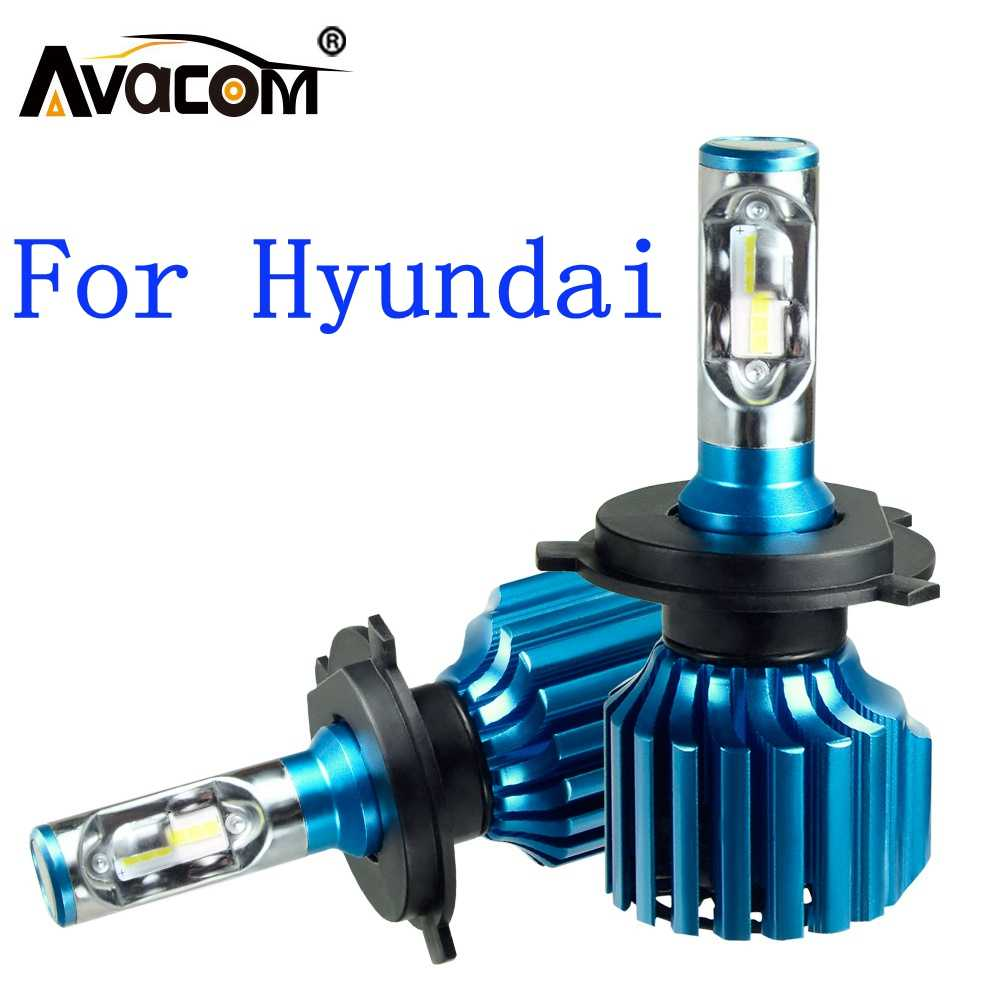 Avacom 2 Pcs LED Car Headlight Bulbs 12V CSP 6500K 12000Lm 72W Auto DRL Fog Light For Hyundai Creta/ix35/Accent/Sonata/Tucson