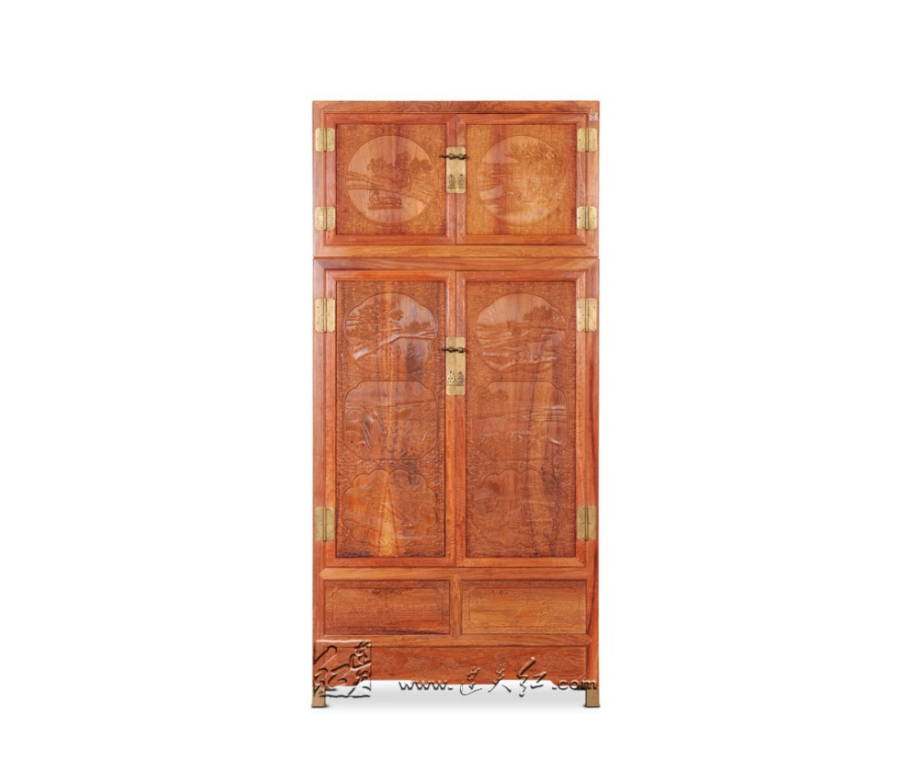 Nice Rosewood Garderobe Antique Carven Bed Room Cabinet Home Clothespress Solid Wood Closet Redwood Almirah New Classic Commode Retro