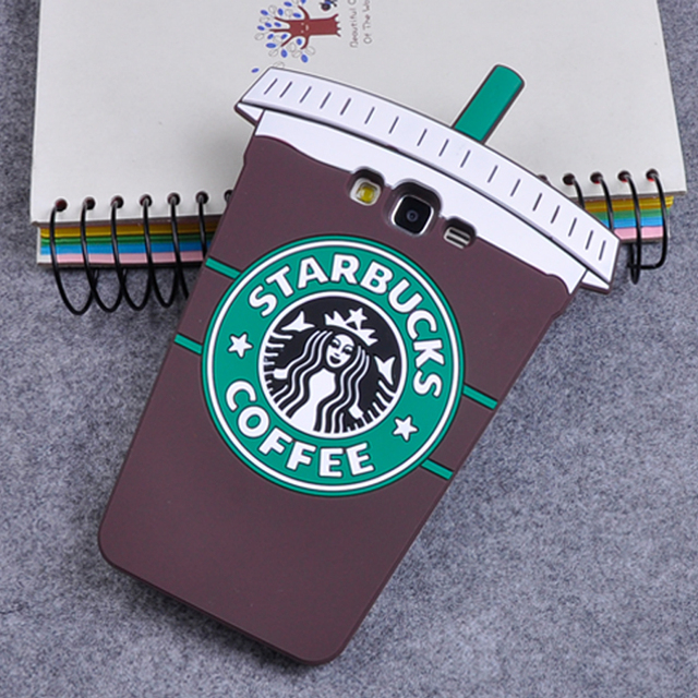 Starbuck xícara de café dos desenhos animados 3d suave silicone capa case para samsung galaxy a3 a5 a7 j1 j3 j5 j7 grand prime s7 s6 borda s5