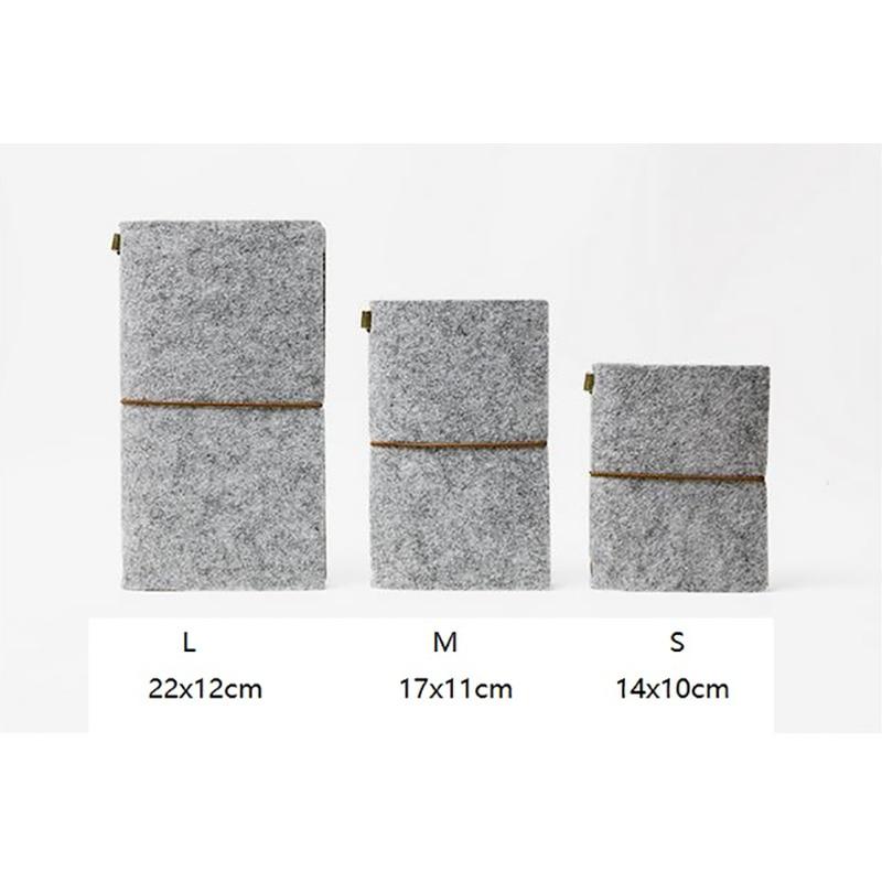 Felt Fabric Traveller's Notebook DIY ауыстырылатын - Блокноттар мен жазу кітапшалары - фото 5