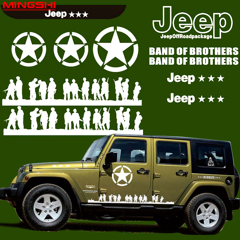 Band of brothers US army soldiers Rear Window Graphic Decal Sticker Truck SUV