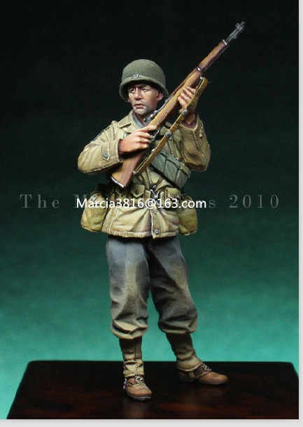 1/35 scale WW2 American soldiers alert WWII miniatures Resin Model Kit figure Free Shipping
