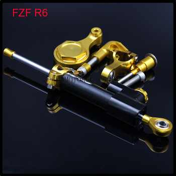 For YAMAHA YZF R6 2006 2007 2008 2009 2010-2011 Motorcycle CNC Steering Damper Stabilizer Bracket Full