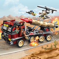 Enlighten New Military Legoe Education Building blocks Stacking Toy Children Gifts Missile Vehicle Helicopter Weapon UN Force