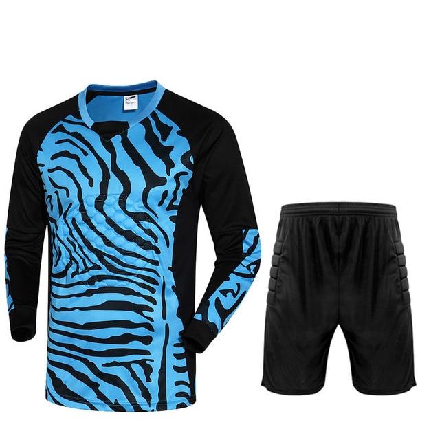f3f27a200d1 Goalkeeper Soccer jersey & shorts Goalkeeper suit men Long Sleeve Football  jersey training suit goaltender Tracksuit Sportswear