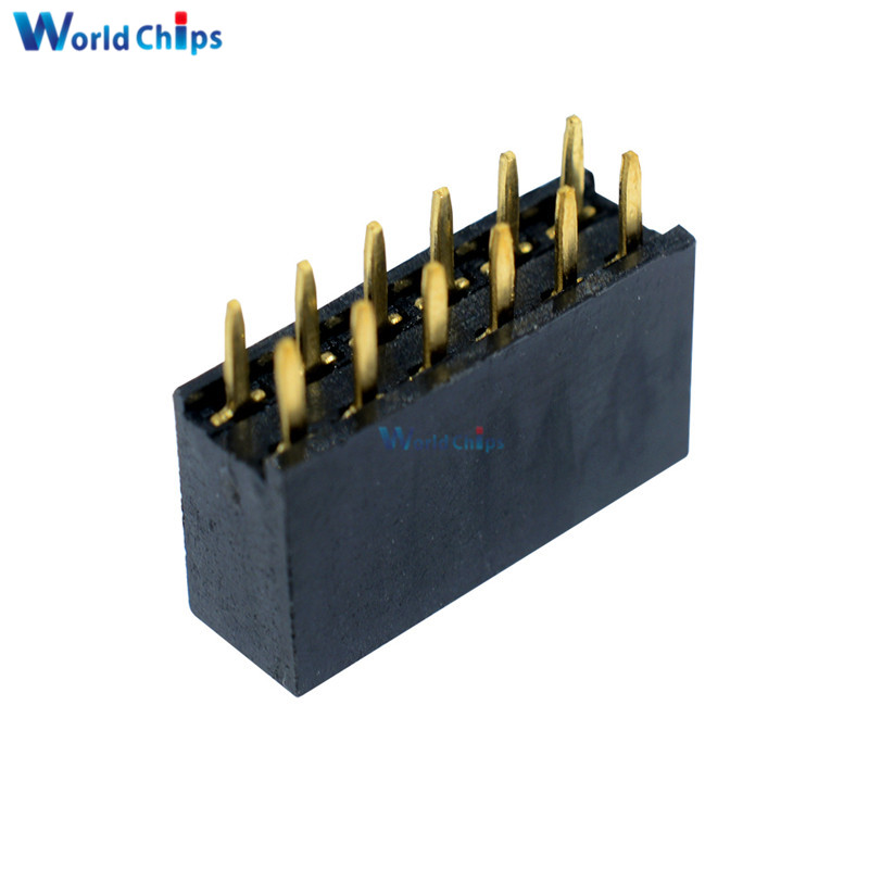 Integrated Circuits Generous 10pcs 2x6 Pin 12p 2.54mm Double Row Female Straight Header Pitch Socket Strip Active Components