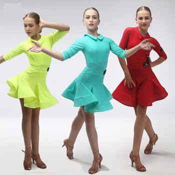 Girl short Sleeves Standard Latin Dance Dress Children Ballroom Dance Dresses Kids Salsa Rumba Cha Cha Samba Tango Dress - DISCOUNT ITEM  20 OFF Novelty & Special Use