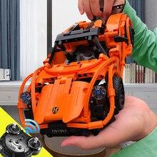 Legoed RC спортивные гоночные модели автомобилей наборы diy строительные блоки игрушечные машинки игрушки для детей Legoing совместимые игрушки для конструктор для мальчиков