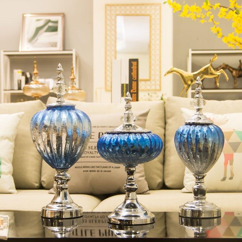 Кабинет европейских ТВ украшения Гостиная Чай стол кристалл Стекло ремесленных украшение украшения дома модель номер мебели