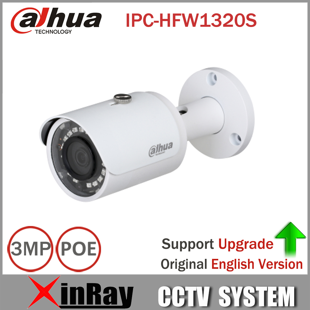 DaHua IPC HFW1320S 3MP Mini Bullet IP Camera Day Night infrared CCTV Camera POE Support IP67