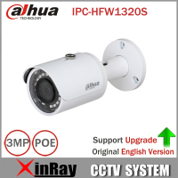 Free Shipping DaHua DH IPC HFW1320S 3MP Mini Bullet IP Camera Day Night Infrared CCTV Camera