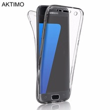 Fashion Full Cover Protector For Samsung Galaxy S3 S4 S5 S6 S7 Edge S8 S8 Plus A3 A5 2017 J1 J5 J7 Prime 2016 Case Clear Bags