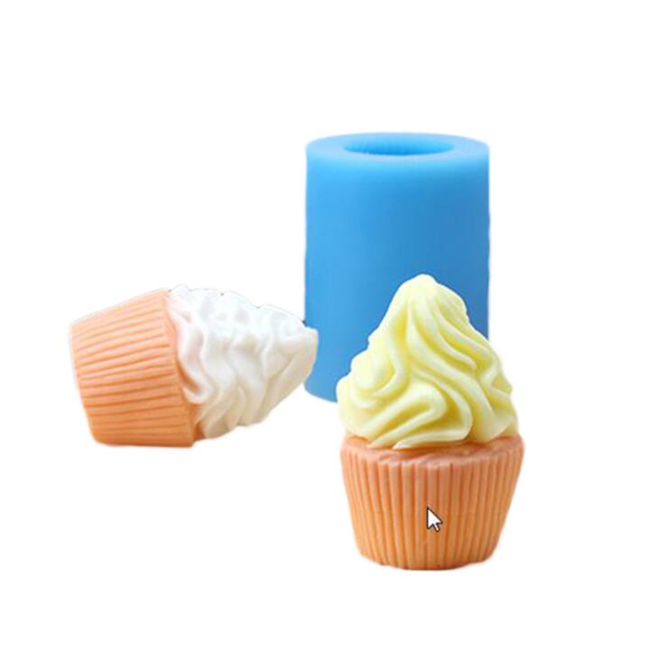 Luyou 3D Silicone Soap/Candle Mold Ice Cream Cup Cake Molds Chocolate Craft Molds DIY Ha ...