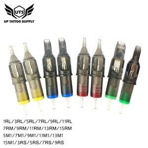 Image 5 - 10pcs קעקוע מחסנית מחטים חד פעמי חצי קבוע איפור גבות עט מכונת קעקוע אספקת 3RL 5RL 7RL 9RL 11RL 14RL