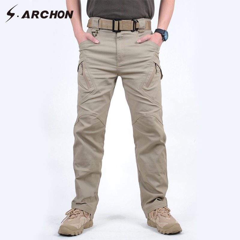 s.archon IX9 City Tactical Pants Men Cargo Pants SWAT Army Military Pants Outdoor Sports Hiking Climbing Men's Pants XXXL